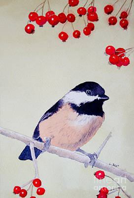 Painting - Chickadee by Laurel Best