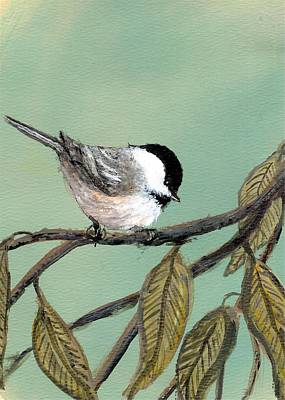 Chickadee Set 10 - Bird 1 Art Print