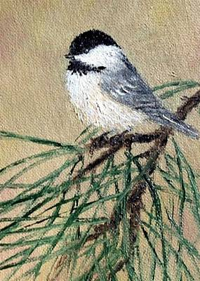 Chickadee Set 17 Bird 2 Detail Print Art Print