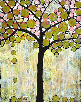 Chickadee Painting - Chickadee Tree by Blenda Studio