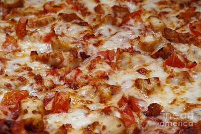 Photograph - Chicken And Diced Tomato Pizza 1 by Andee Design