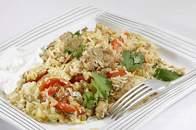 Photograph - Chicken Biriyani With Yoghurt by Paul Cowan