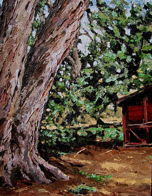 Painting - Chicken Coop At Hidden Valley by Les Herman