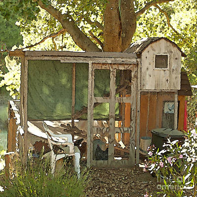 Painting - Chicken Coop On The Farm by Artist and Photographer Laura Wrede
