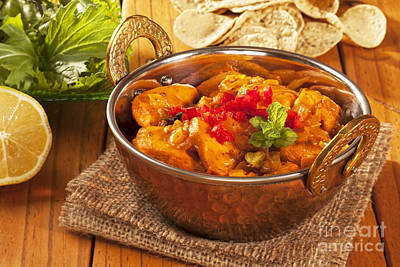 Chicken Photograph - Chicken Curry by Colin and Linda McKie