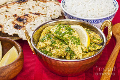Chicken Photograph - Chicken Curry With Rice And Naan by Colin and Linda McKie
