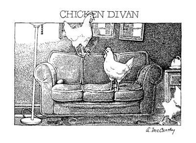 Chicken Divan Art Print