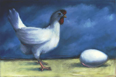 Earnings Painting - Chicken-egg by Steve Dininno