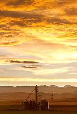 Farm Art Photograph - Chicken Farm Sunset 1 by James BO  Insogna
