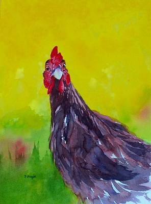 Painting - Chicken Little by Norman Freyer