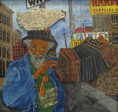 Painting - Chicken Man Of Chicago by Eric Cunningham
