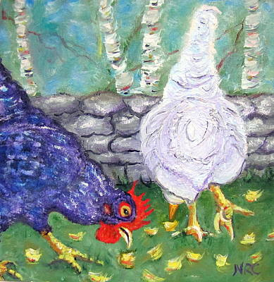 Photograph - Chicken Neighbors by Natalie Rotman Cote