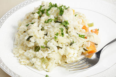 Chicken Risotto Ready To Eat Art Print
