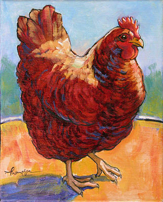 Rhode Island Painting - Chicken Sister 1 by Tracie Thompson