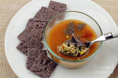 Photograph - Chicken Soup With Purple Crackers by Lee Serenethos