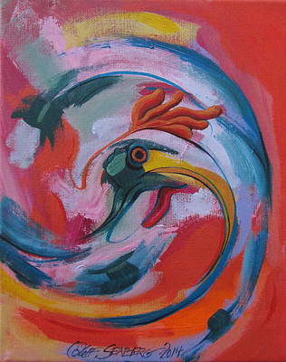 Painting - Chicken Swirl by Jeff Seaberg