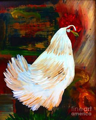Painting - Chicken--yard Bird Impression by Saundra Myles