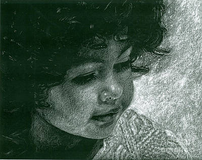 Angelic Drawing - Chickie's Grand Daughter by Art Now And Here