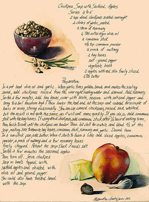 Chickpeas Soup With Apples Art Print