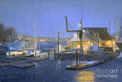 George W. Bush Painting - Boat Yard Blues by Candace Lovely