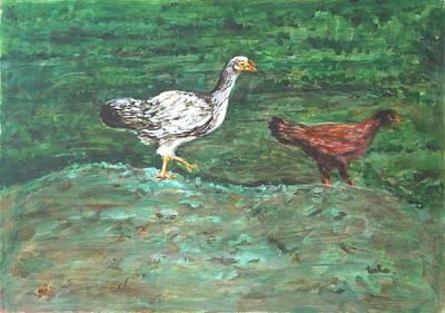 Chicks Art Print by Usha Shantharam