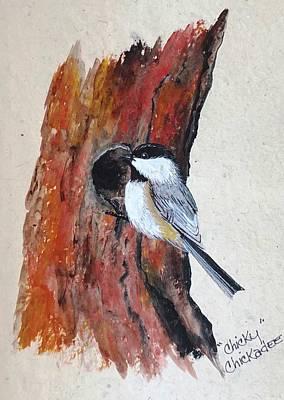 Painting - Chicky Chickadee by Jennifer Lake