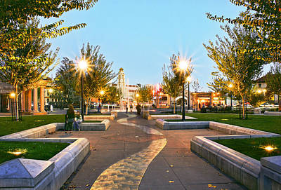 Photograph - Chico City Plaza Horizontal by Abram House