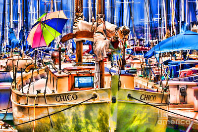 Photograph - Chico Sail Boat By Diana Sainz by Diana Raquel Sainz
