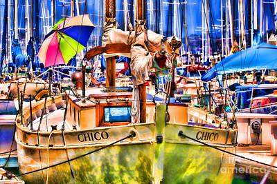 Photograph - Chico Sail Boat By Diana Sainz by Diana Raquel Sainz