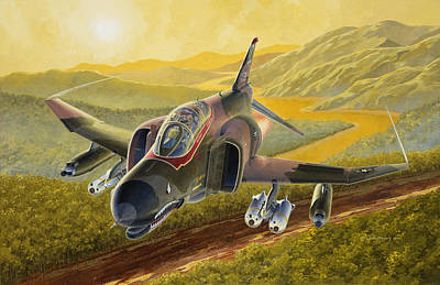 Military Aviation Art Painting - Chico The Gunfighter by Wade Meyers