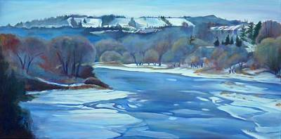 Canadian Sports Painting - Chicopee Ski Hill by Sheila Diemert