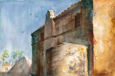 Yucatan Painting - Chicxulub Saltworks by John Ressler