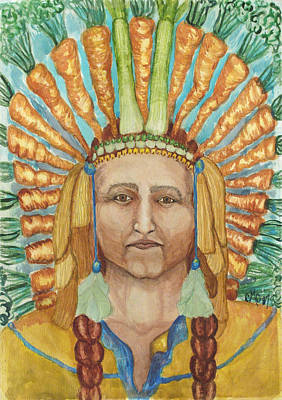 Painting - Chief 24 Carrots by Carol Oufnac Mahan