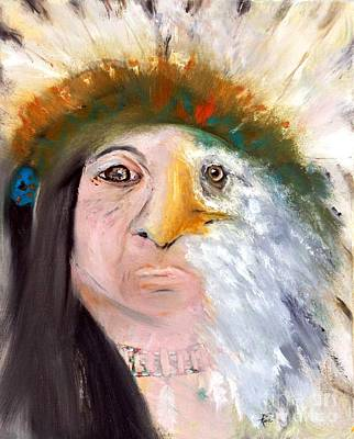 Chief Black Eagle Art Print
