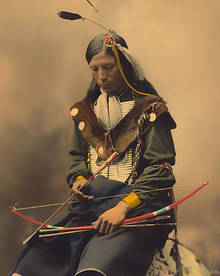 Long Necklace Photograph - Chief Bone Necklace Of The Lakota 1899 by Mountain Dreams
