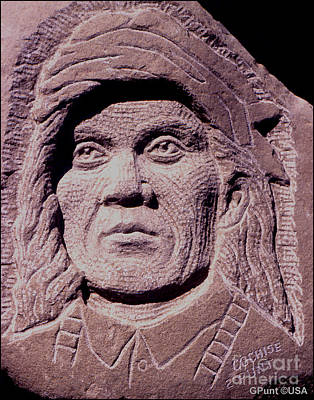 Sculpture - Chief-cochise-2 by Gordon Punt