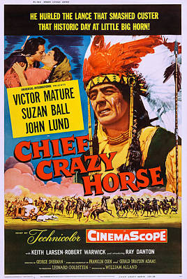 Chief Crazy Horse, Us Poster, From Left Art Print by Everett