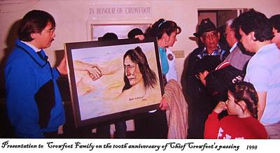 Painting - Chief Crowfoot by Cathy Long
