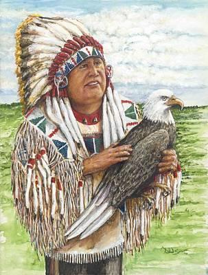 Chief Golden Light Eagle Original by Todd Spaur