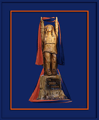 Chief Illiniwek University Of Illinois 05 Art Print by Thomas Woolworth
