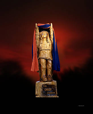 Chief Illiniwek University Of Illinois 06 Art Print by Thomas Woolworth