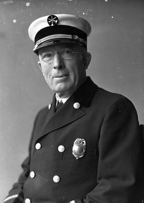 Comiskey Photograph - Chief John C. Mcdonnell Century Of Progress Fire Department Chicago  by Retro Images Archive