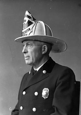 Comiskey Photograph - Chief John C. Mcdonnell Century Of Progress Fireman Chicago by Retro Images Archive