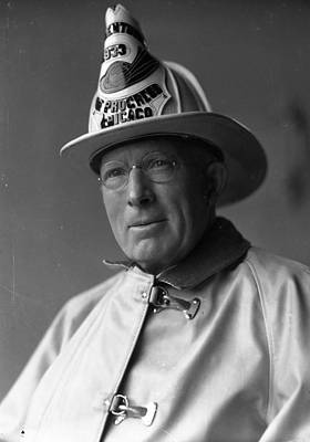 Comiskey Photograph - Chief John C. Mcdonnell Century Of Progress Fireman by Retro Images Archive
