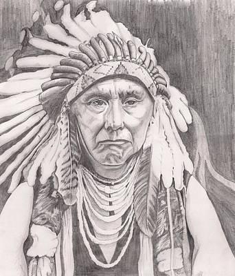 Chief Joseph Art Print by Beverly Marshall