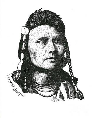 Drawing - Chief Joseph by Clayton Cannaday