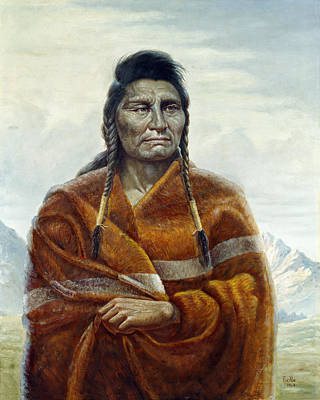 Indian Fine Art Painting - Chief Joseph by Gregory Perillo