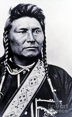 Chief Joseph Photograph - Chief Joseph Nez Perce Leader by NPS Photo