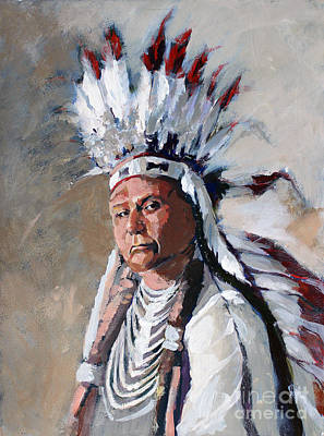 Painting - Chief Joseph by Synnove Pettersen