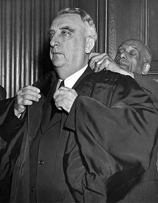 Chief Justice Photograph - Chief Justice Fred Vinson by Underwood Archives